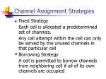 channel assignment strategies