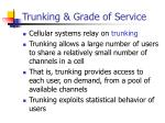 trunking grade of service