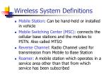 wireless system definitions1