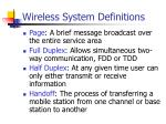 wireless system definitions2