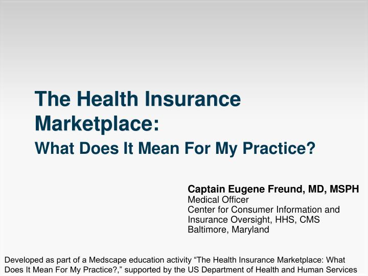 the health insurance marketplace n.