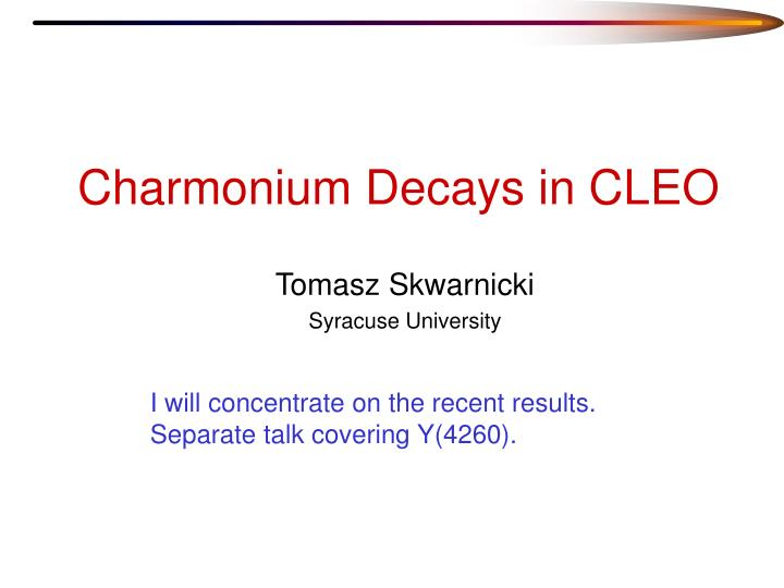 charmonium decays in cleo n.