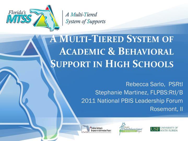 a multi tiered system of academic behavioral support in high schools n.