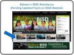 believe in bisd attendance pending updated flyers on bisd wedsite