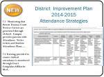 district improvement plan 2014 2015 attendance strategies