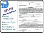 eschool truancy form compliant filing parent contributing to non attendance