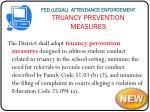 fed legal attendance enforcement truancy prevention measures