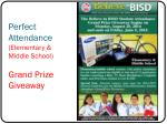 perfect attendance elementary middle school grand prize giveaway