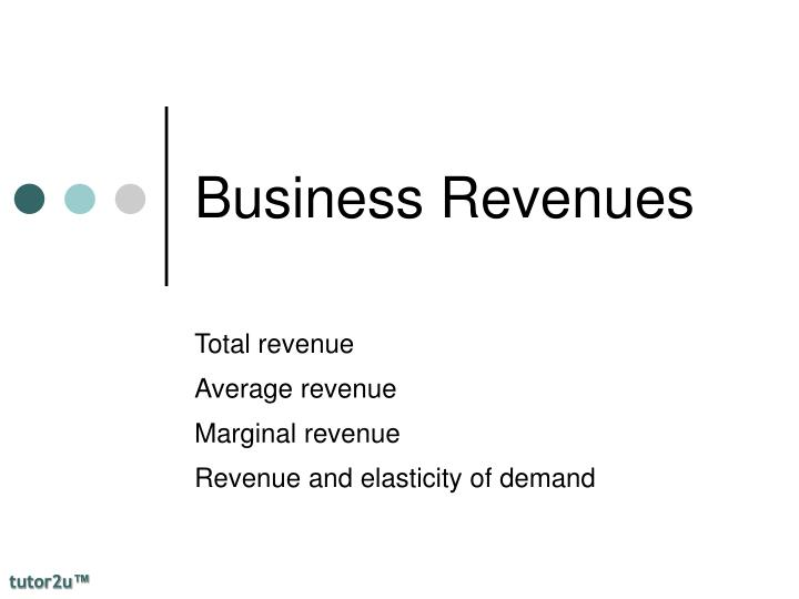 business revenues n.