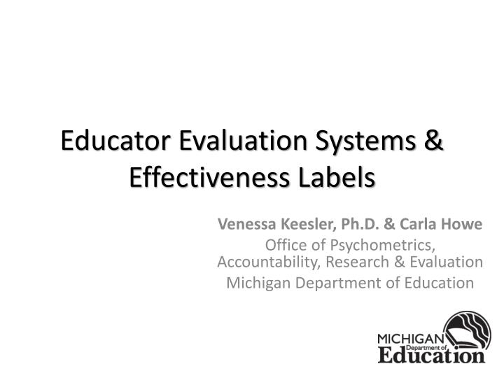 educator evaluation systems effectiveness labels n.