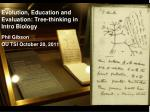 evolution education and evaluation tree thinking in intro biology