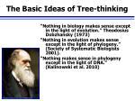 the basic ideas of tree thinking