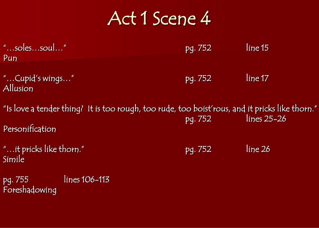 PPT - Romeo & Juliet Literary Term Notes PowerPoint