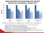 adult and adolescent females diagnosed with hiv infection by race ethnicity georgia 2011