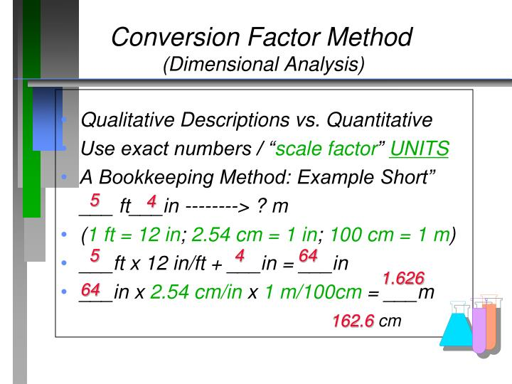 Conversion Factor Method