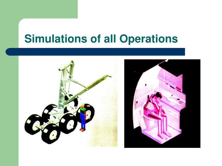 Simulations of all Operations