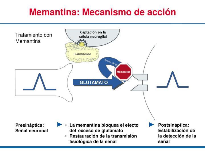 PPT - Propiedades de la Memantina y mecanismo de acción PowerPoint ...