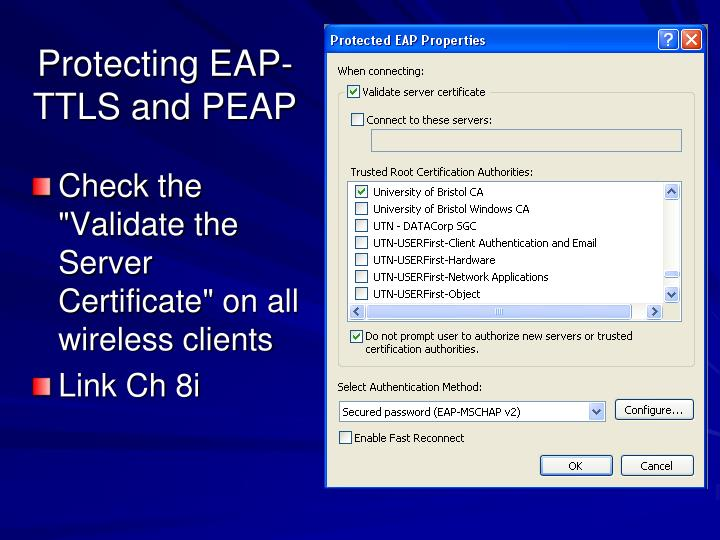 Protecting EAP-TTLS and PEAP