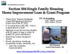 section 504 single family housing home improvement loan grant program