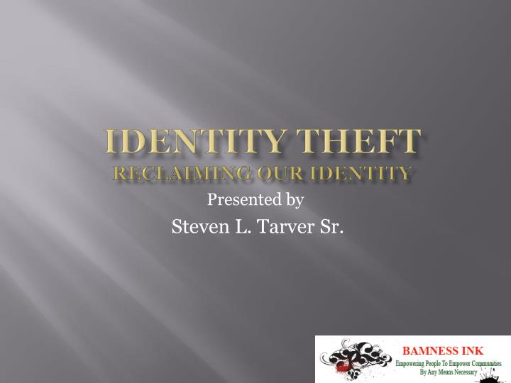 identity theft reclaiming our identity n.