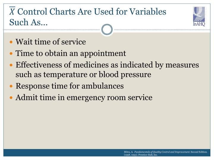 Control Charts Are Used for Variables