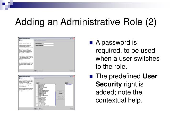 Adding an Administrative Role (2)
