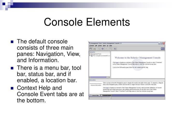 Console Elements