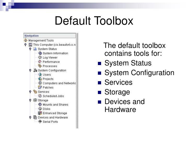 Default Toolbox
