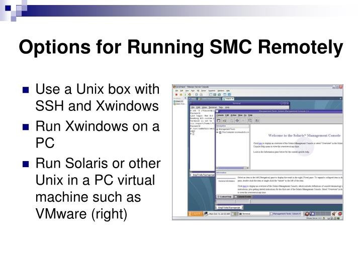 Options for Running SMC Remotely