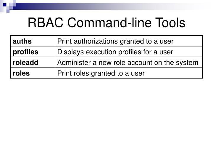 RBAC Command-line Tools