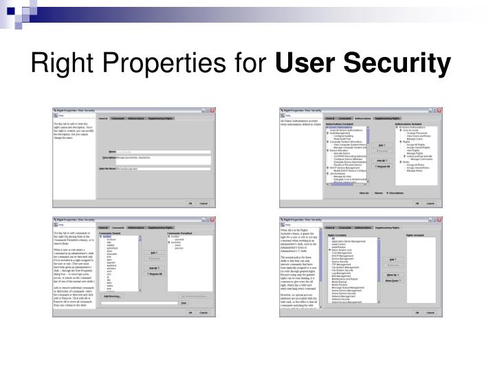 Right Properties for