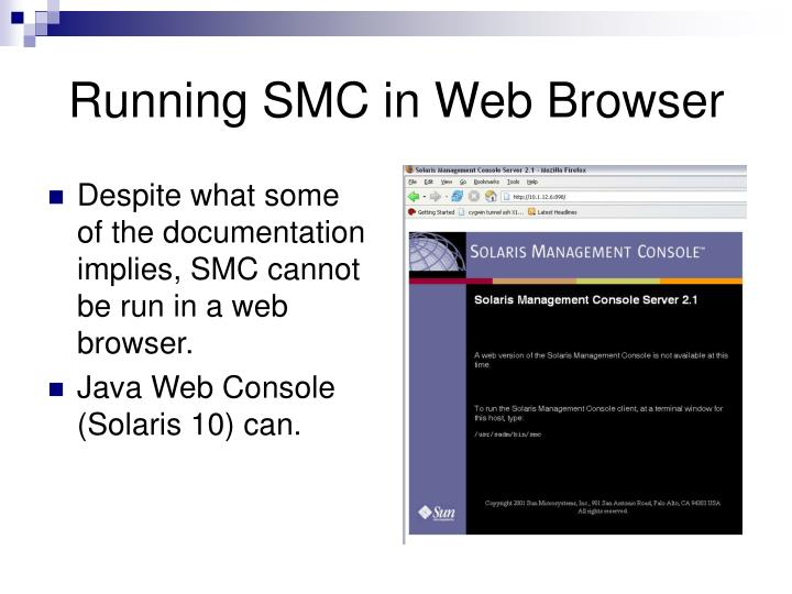 Running SMC in Web Browser