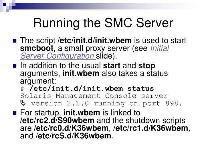 Running the SMC Server
