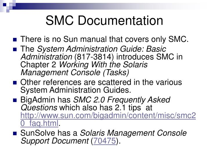 SMC Documentation