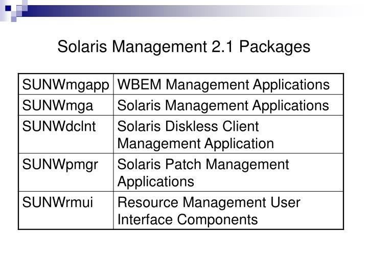 Solaris Management 2.1 Packages