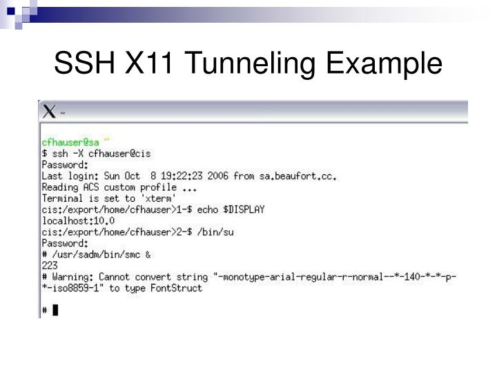 SSH X11 Tunneling Example