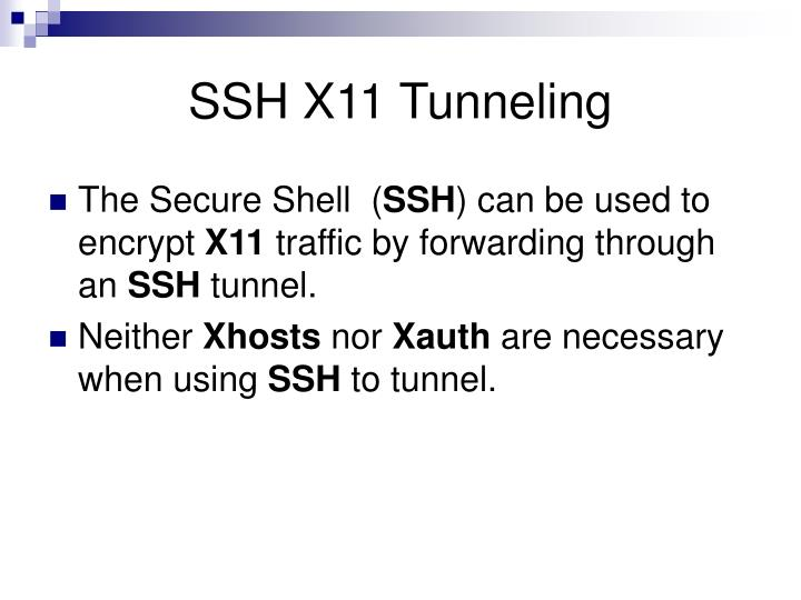 SSH X11 Tunneling