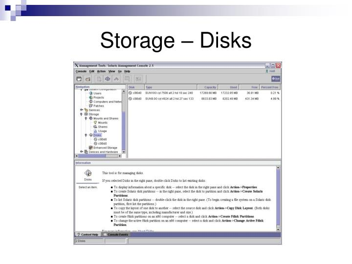 Storage – Disks