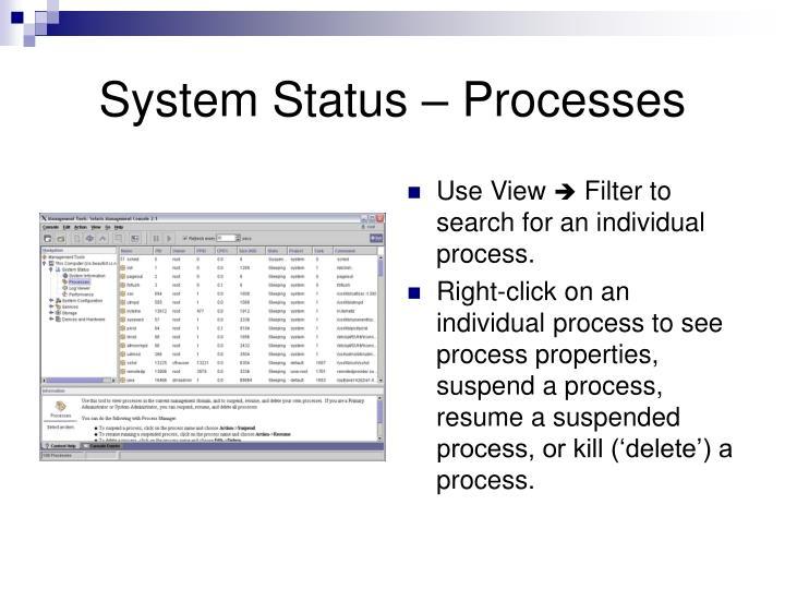 System Status – Processes