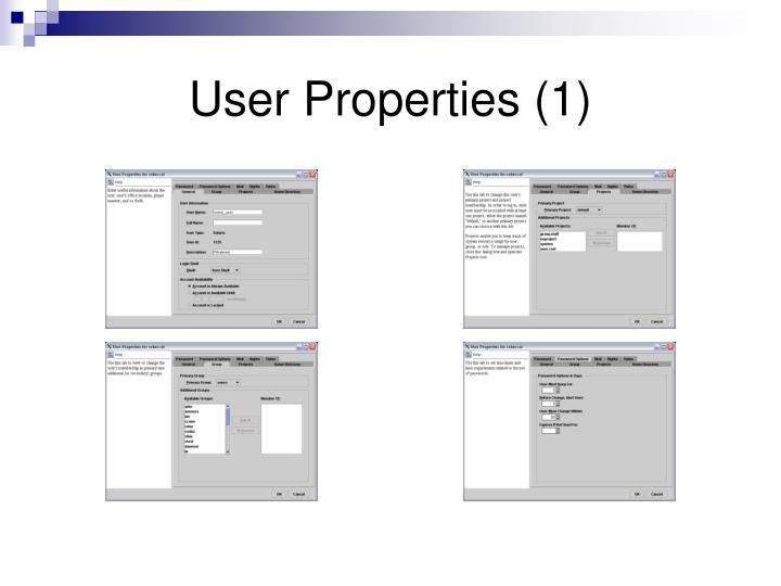 User Properties (1)
