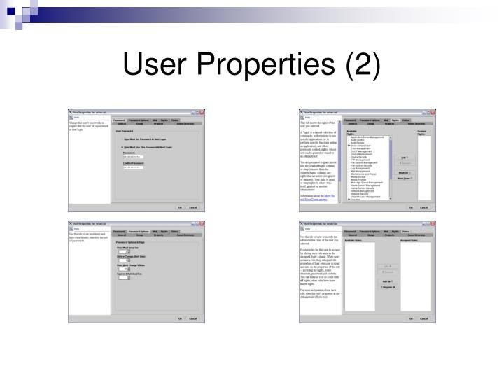 User Properties (2)