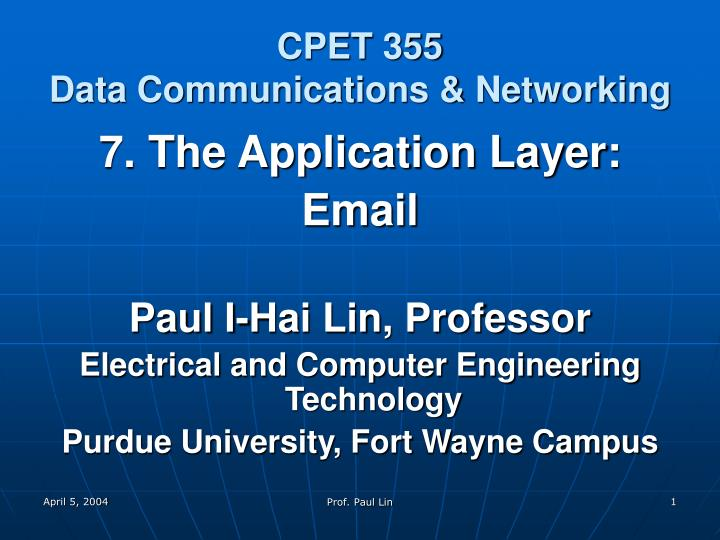 cpet 355 data communications networking n.