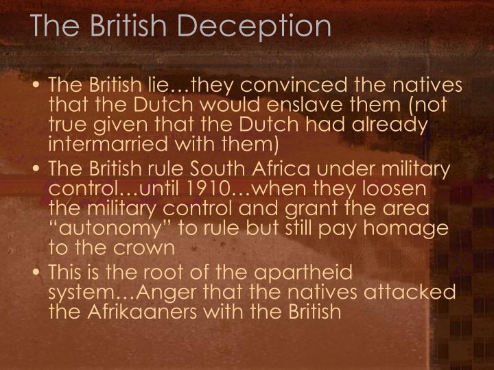 The British Deception