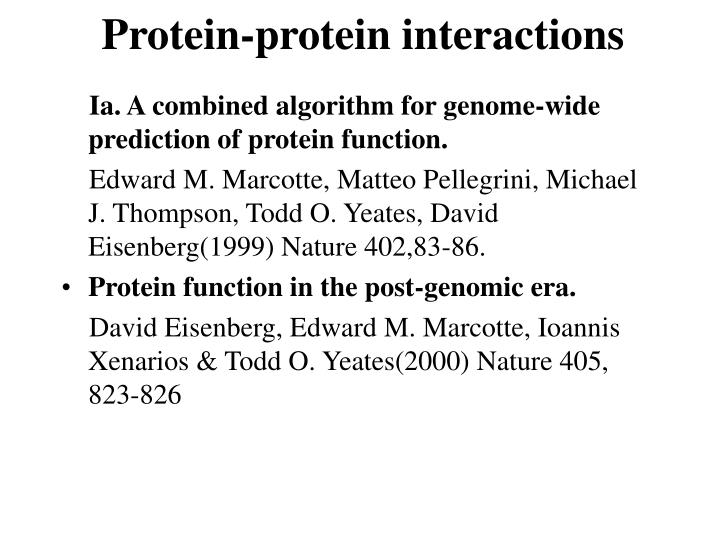 protein protein interactions n.