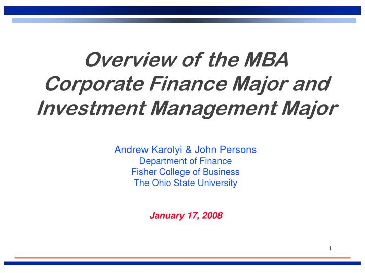 mba corporate finance essay I need some help to review my essay draft corporate finance  essay review - msc in finance  show tags.