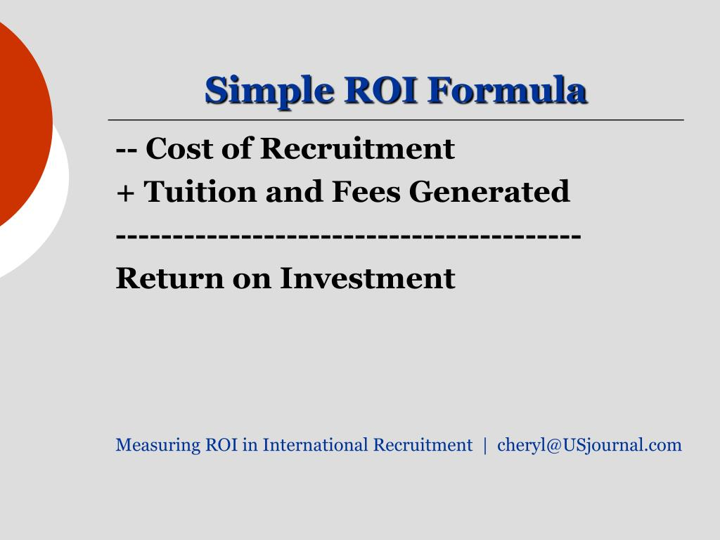 PPT - Measuring Return on Investment in International