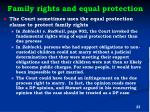 family rights and equal protection