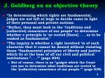 j goldberg on an objective theory