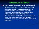 ordinance in moore