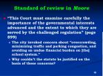 standard of review in moore